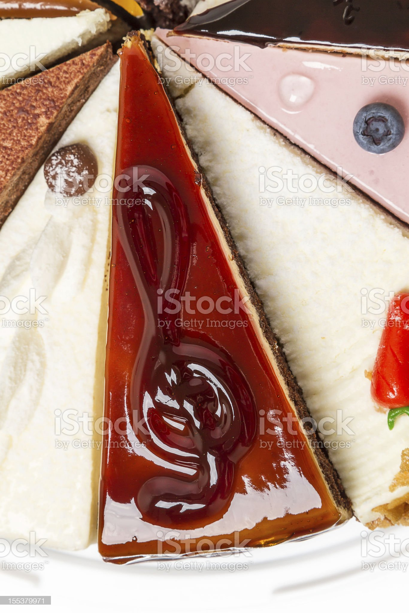 Piece of cake and a treble clef royalty-free stock photo