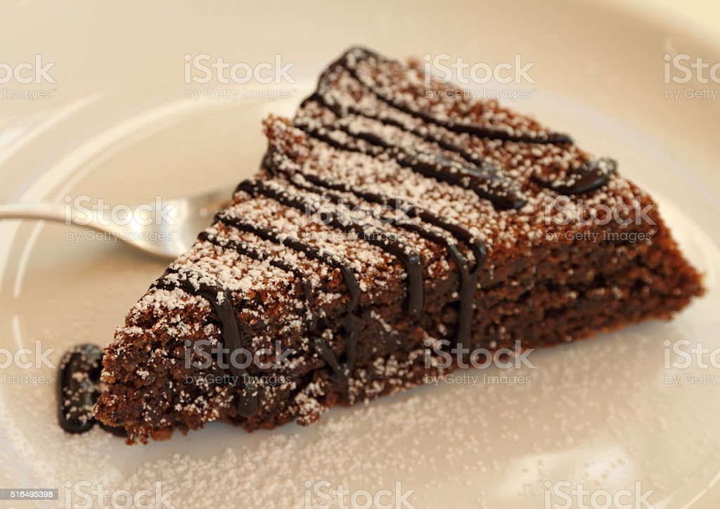 piece of Capri cake stock photo