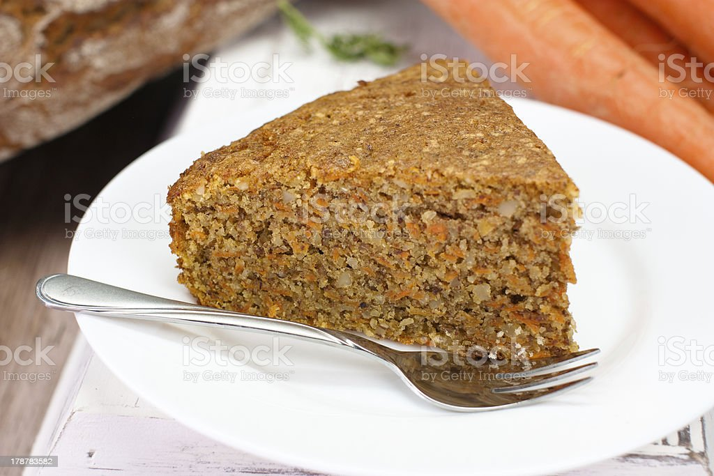 piece of carrot cake royalty-free stock photo