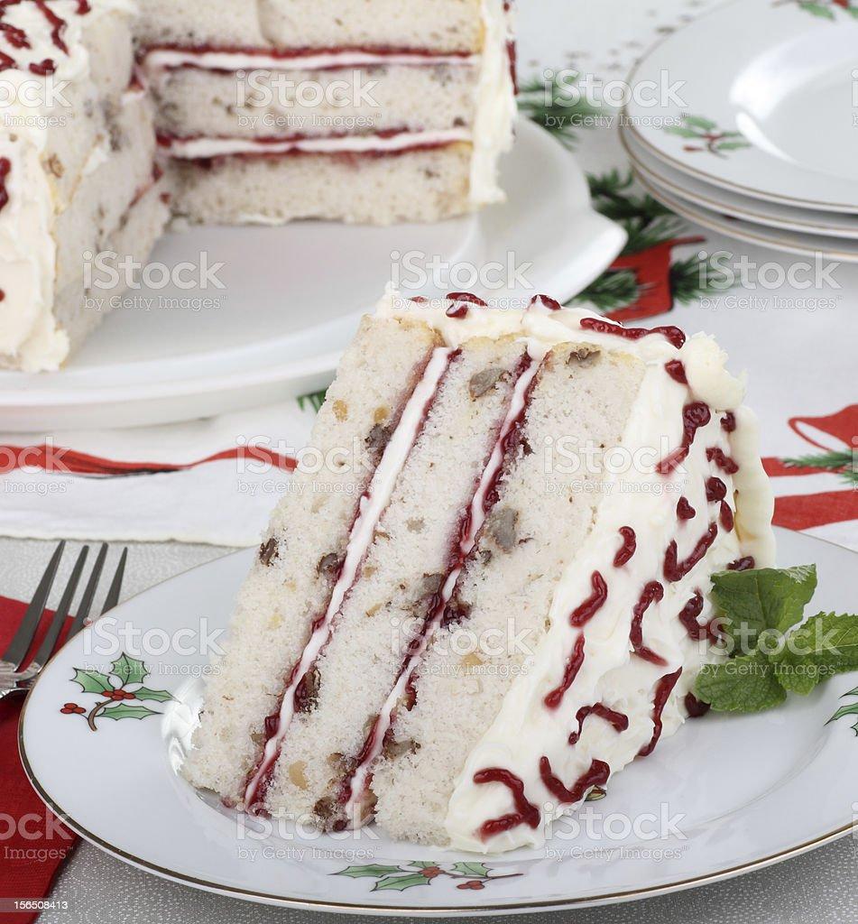 Piece of Christmas Cake royalty-free stock photo