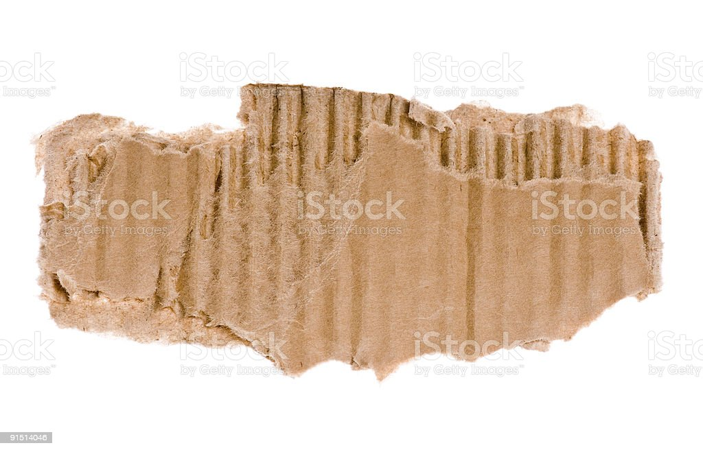 piece of corrugated cardboard royalty-free stock photo