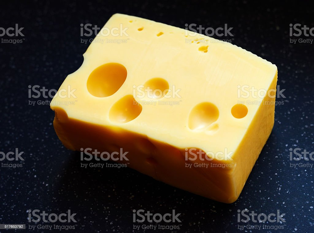piece of emmentaler stock photo
