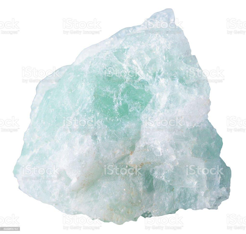 piece of fluorite (fluorspar) mineral stone stock photo