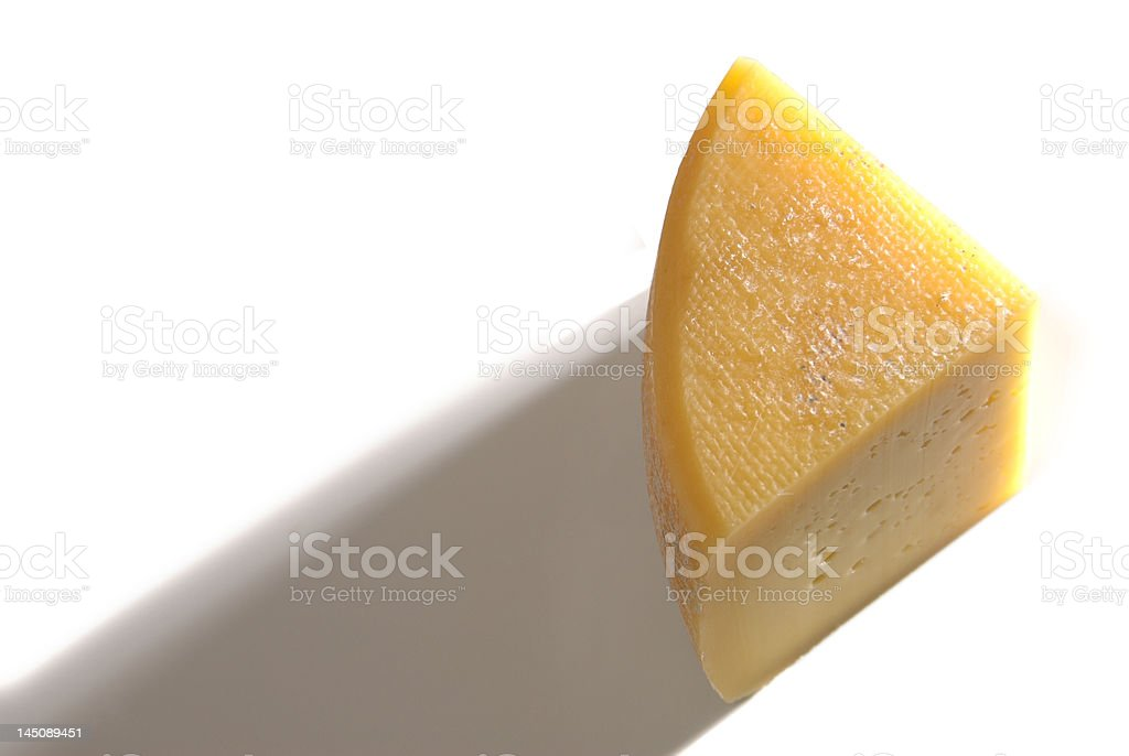 Piece of fresh cheese royalty-free stock photo