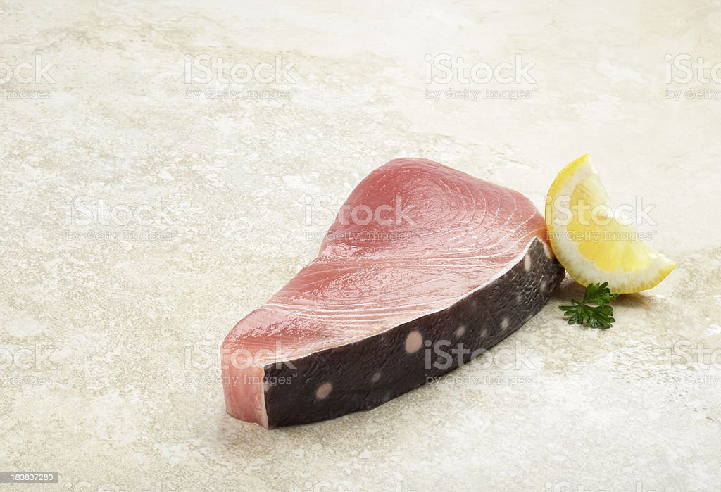 Piece of Fresh Opah royalty-free stock photo