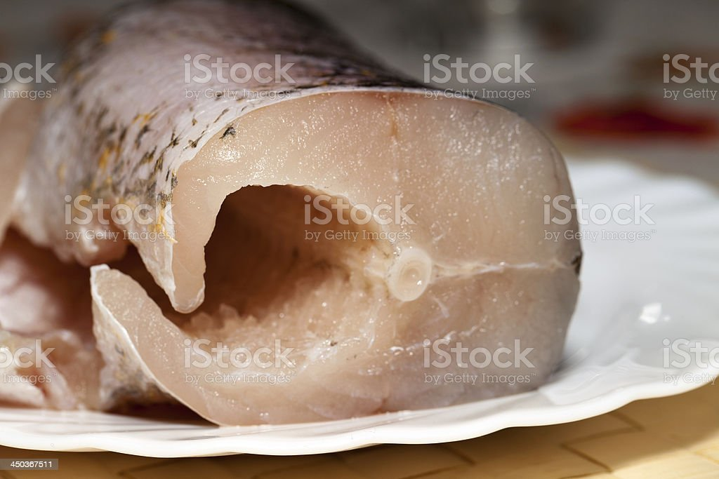 Piece of fresh raw fish. royalty-free stock photo