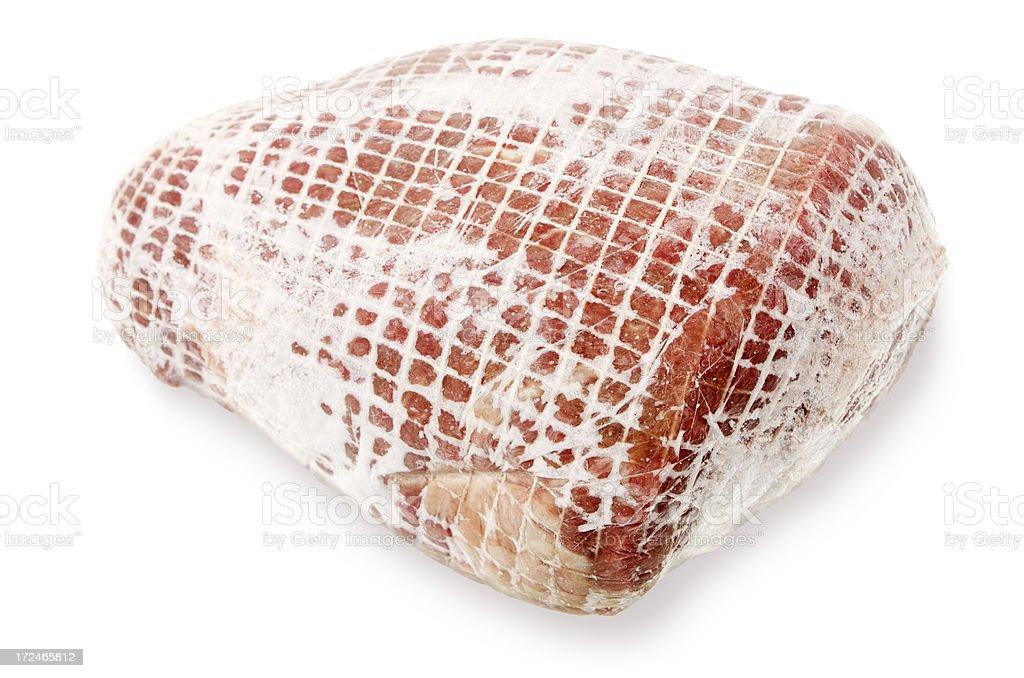 Piece Of Frozen Beef stock photo