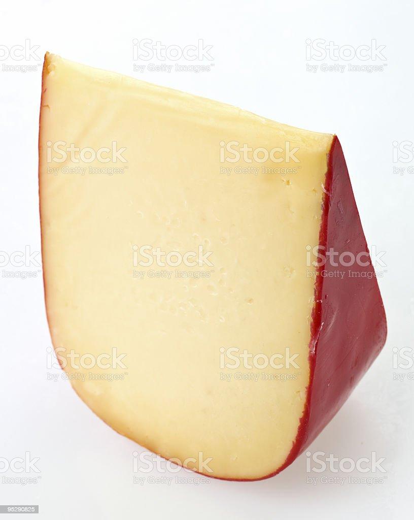 Piece of Gouda Cheese stock photo