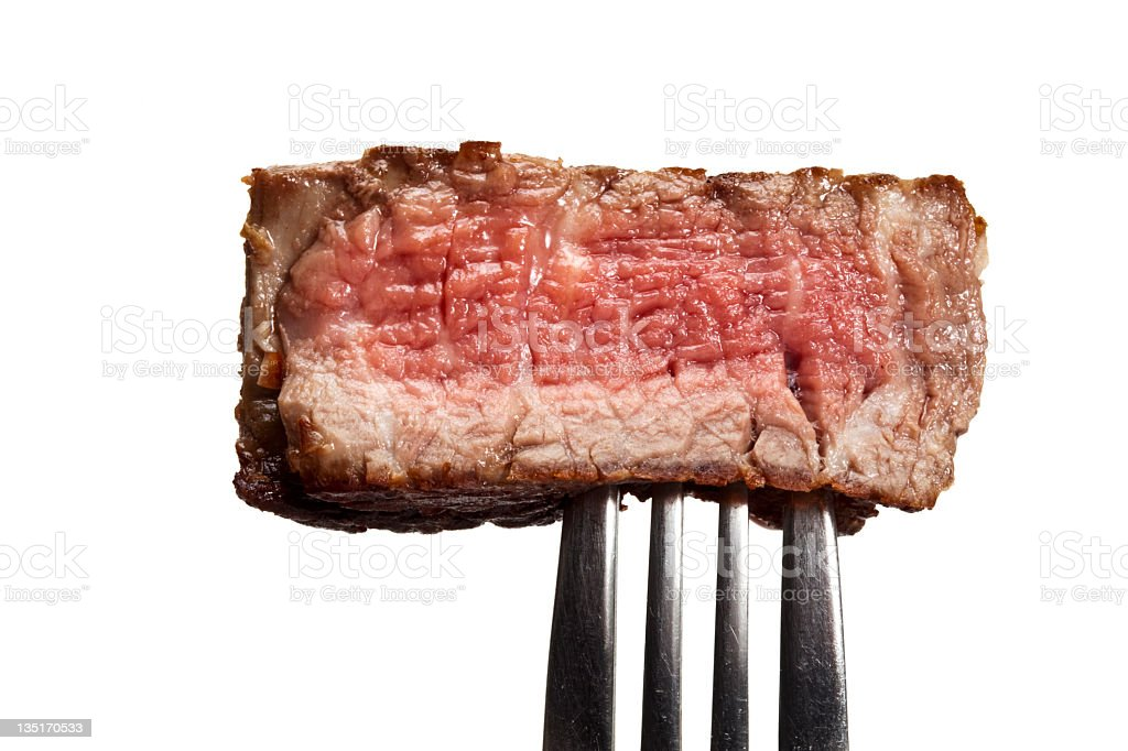 Piece of grilled steak royalty-free stock photo
