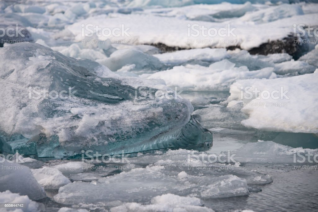 Piece of ice in Iceland, iceberg stock photo