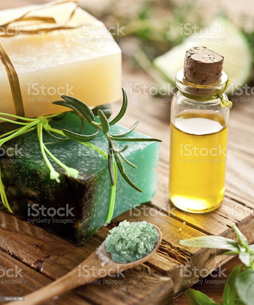 Piece of natural soap. royalty-free stock photo