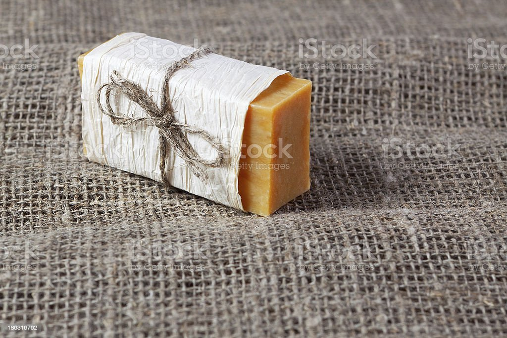 piece of natural soap royalty-free stock photo