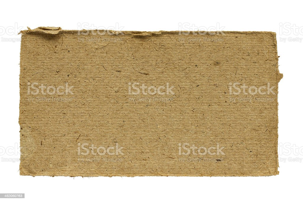 Piece of old cardboard royalty-free stock photo