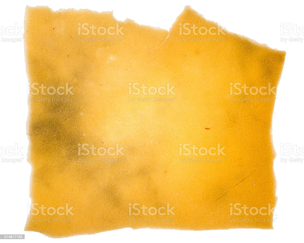 Piece of old insulation foam stock photo