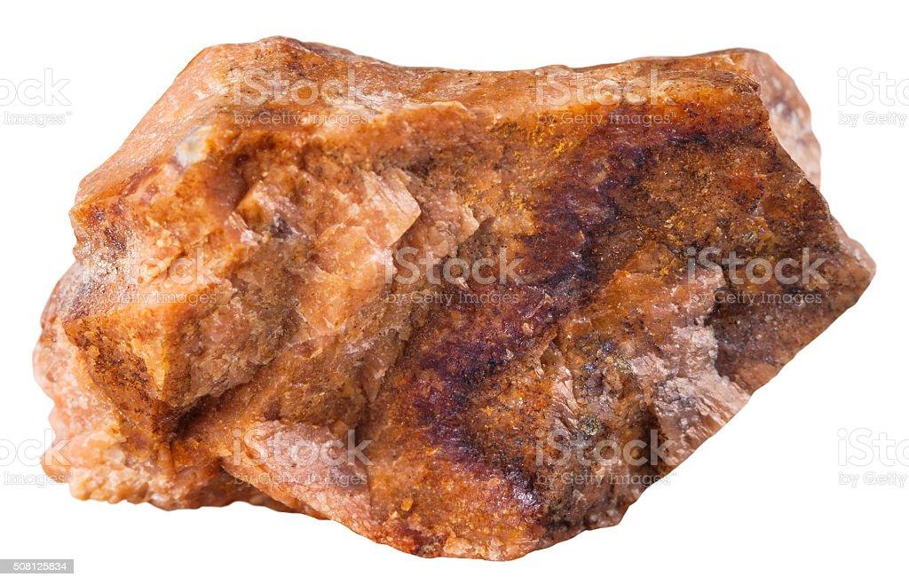 piece of orthoclase (orthoclase feldspar) mineral stock photo