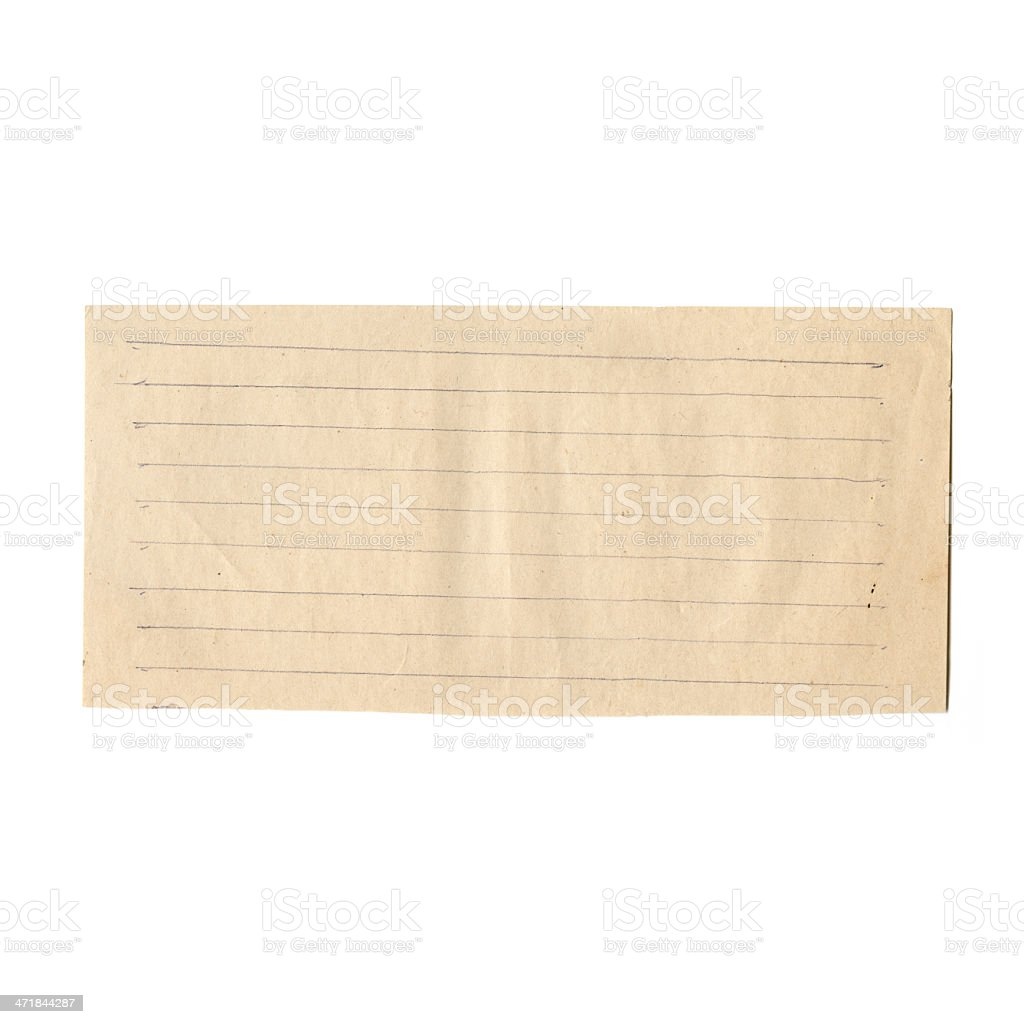 XXXL A piece of paper in line royalty-free stock photo