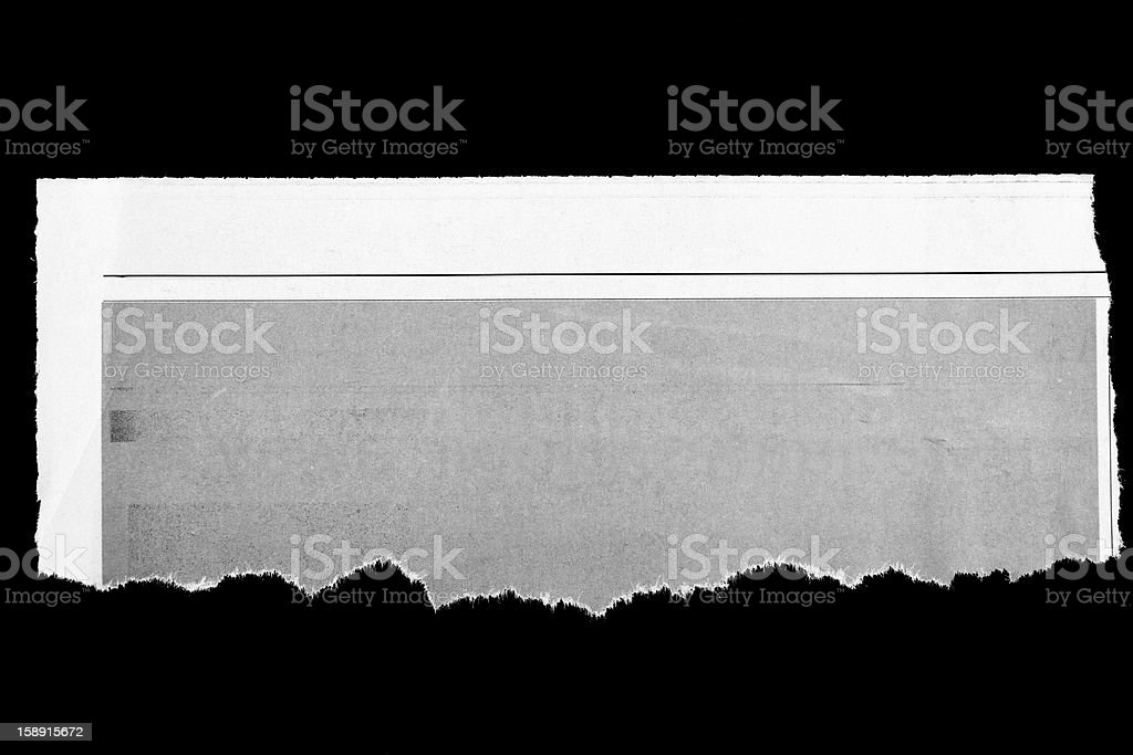 Piece of paper stock photo