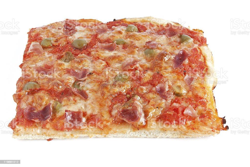 piece of pizza stock photo