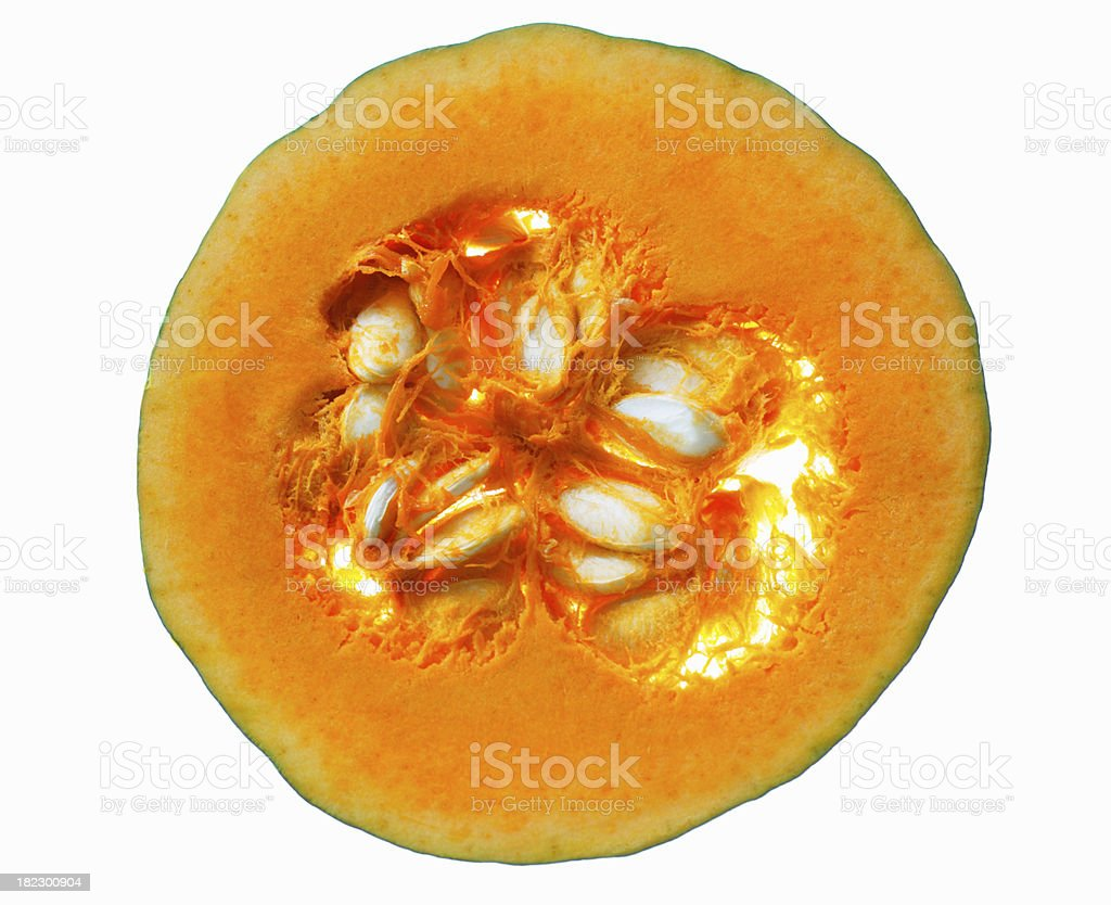 Piece of pumpkin isolated on white background royalty-free stock photo