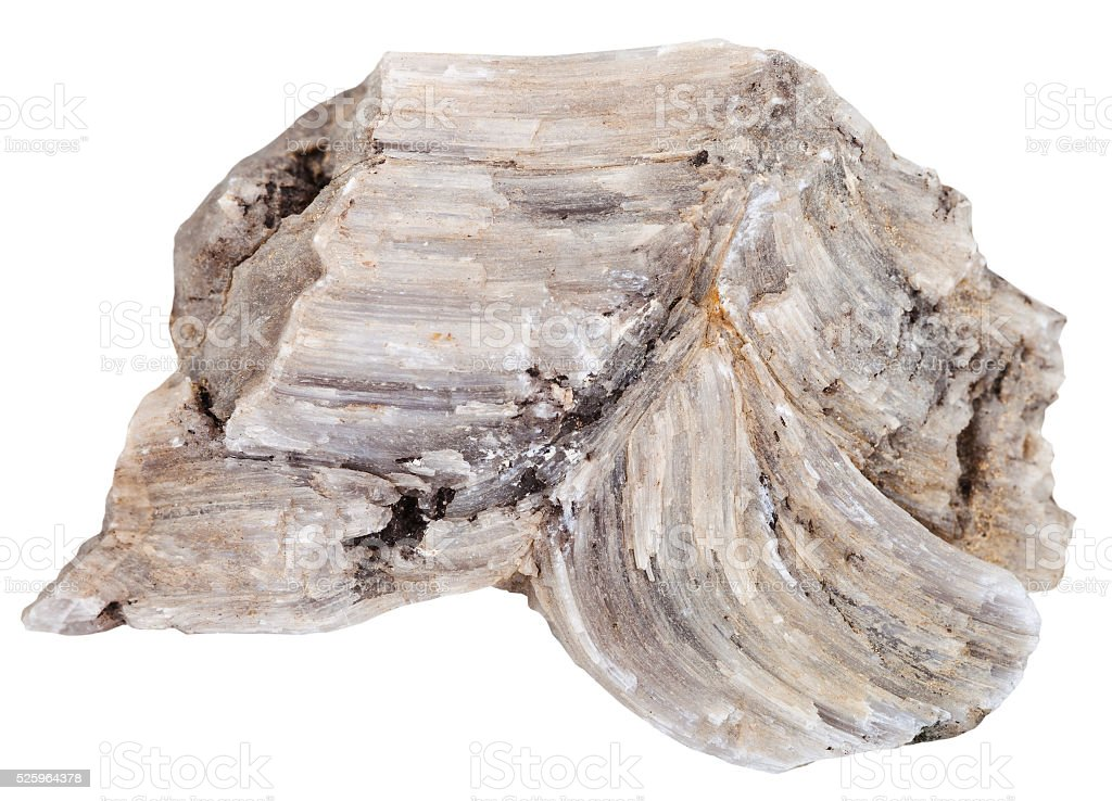 piece of raw Baryte (barite) rock isolated stock photo