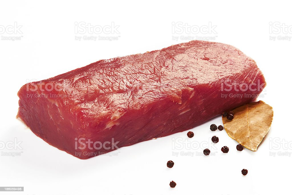 Piece of raw fresh meat royalty-free stock photo