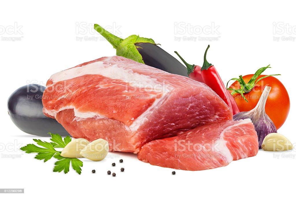Piece of raw meat stock photo