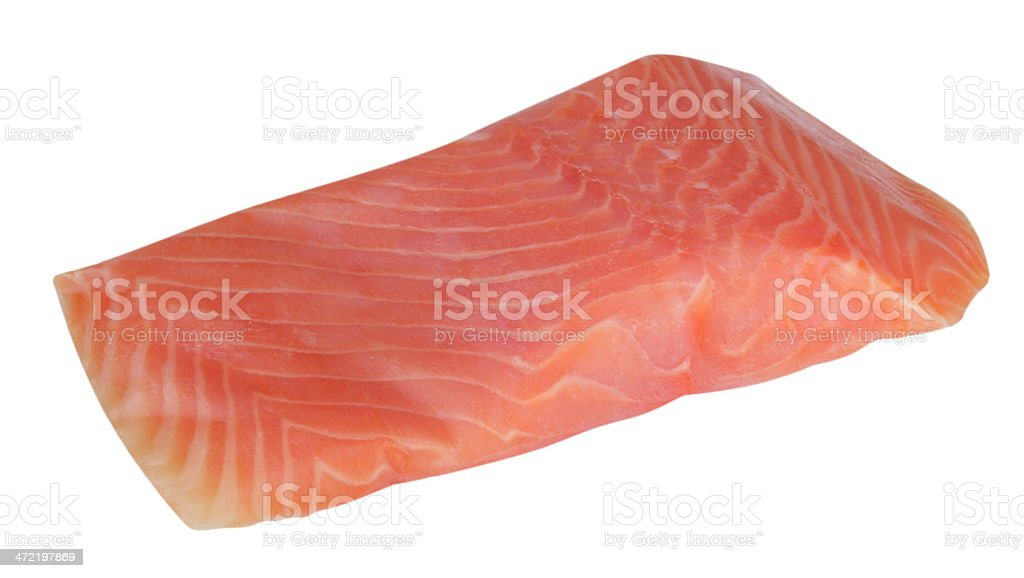 piece of red fish fillet isolated on white royalty-free stock photo