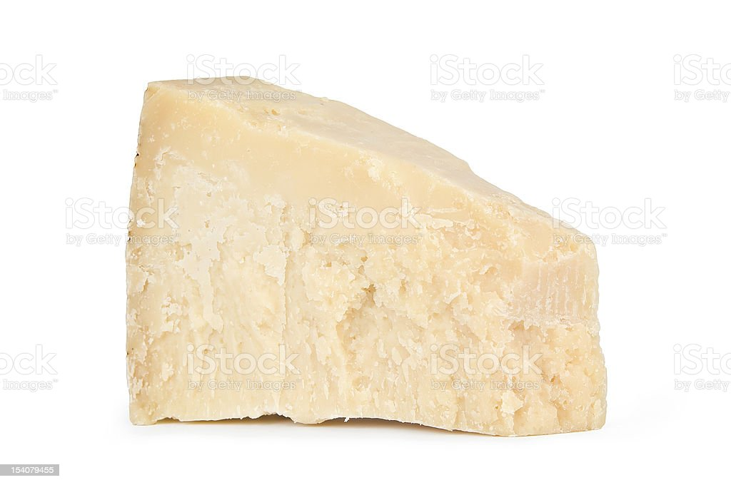 Piece of resh parmesan cheese. stock photo