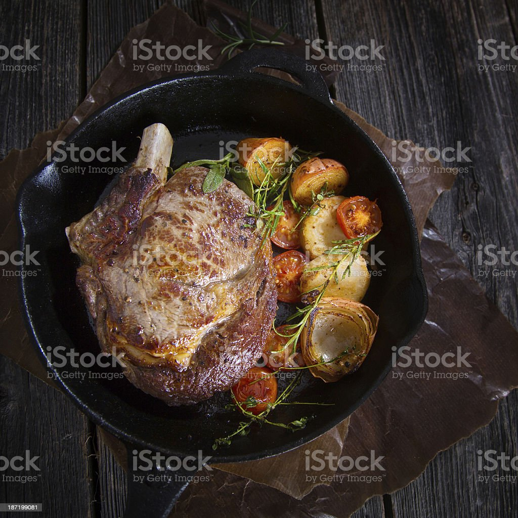 Piece of Roast Beef stock photo