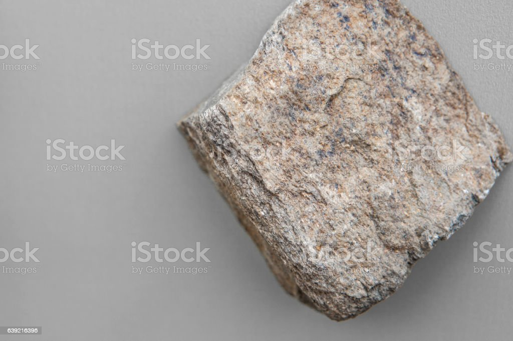 Piece of schist rock isolated stock photo