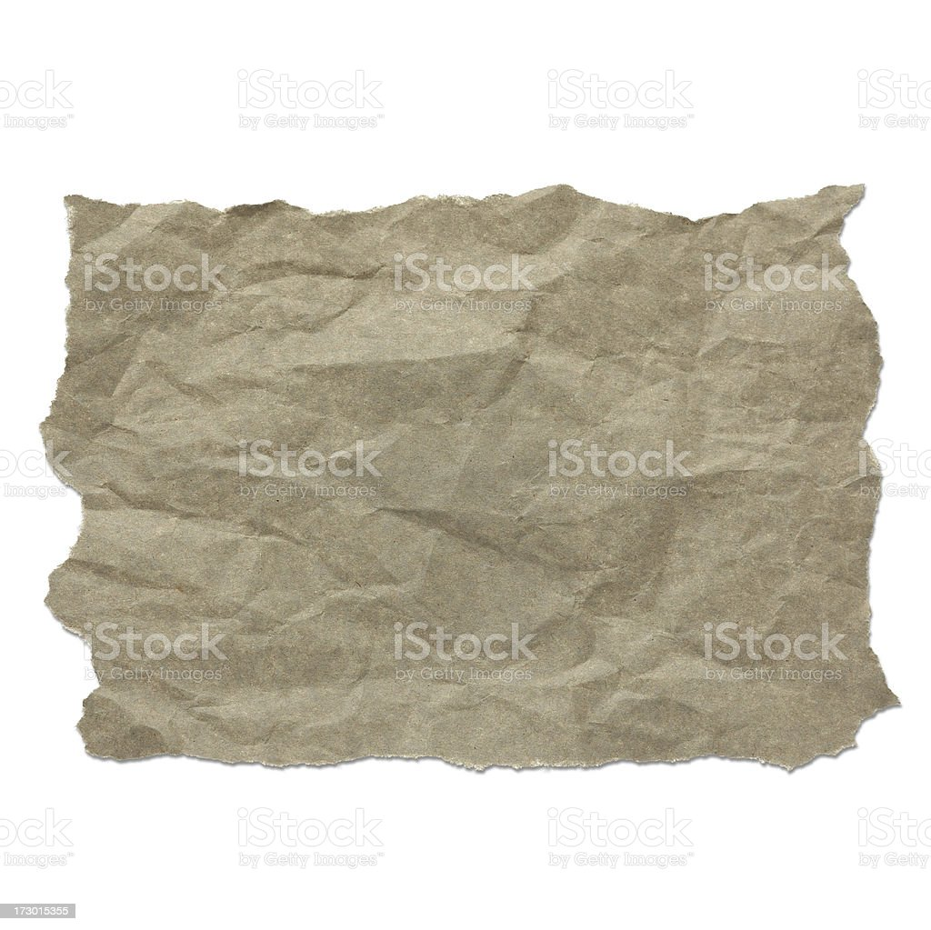 Piece of scratched paper royalty-free stock photo