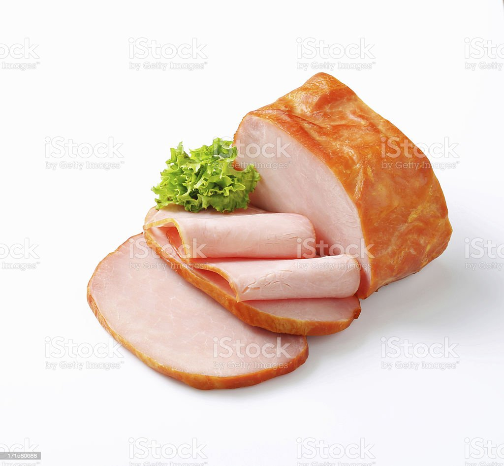 Piece of smoked meat stock photo