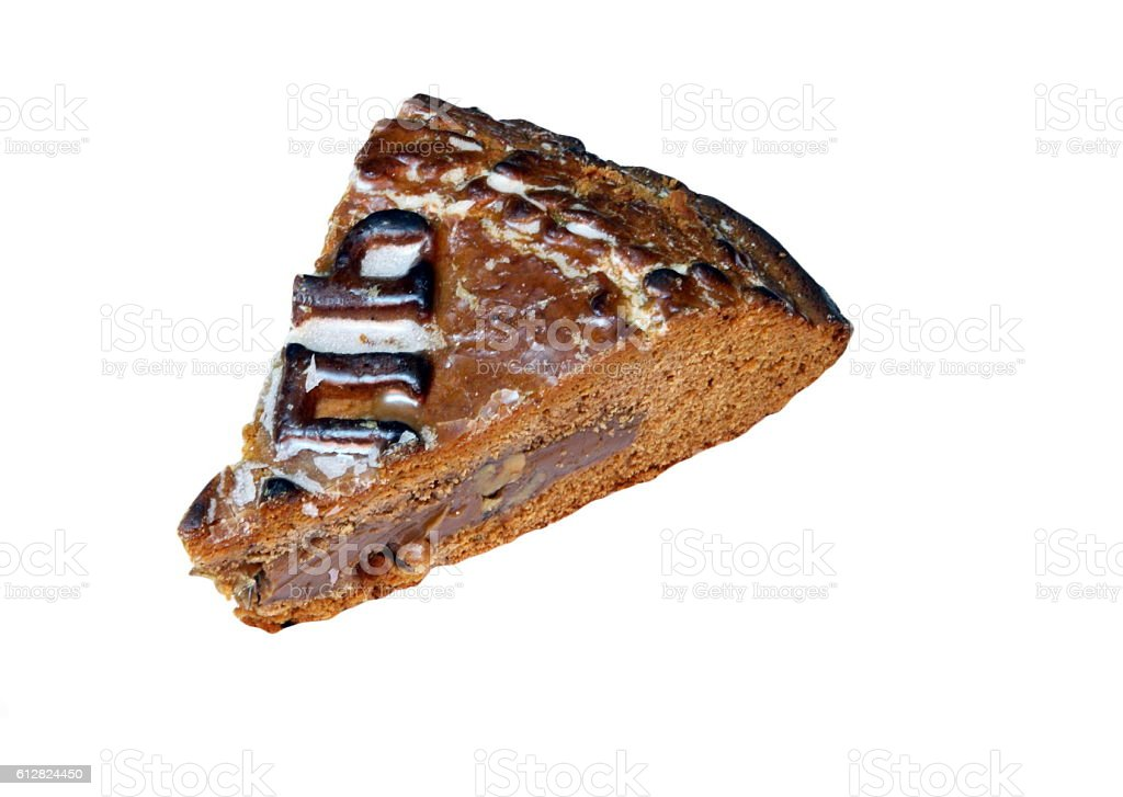 piece of spice cake stock photo