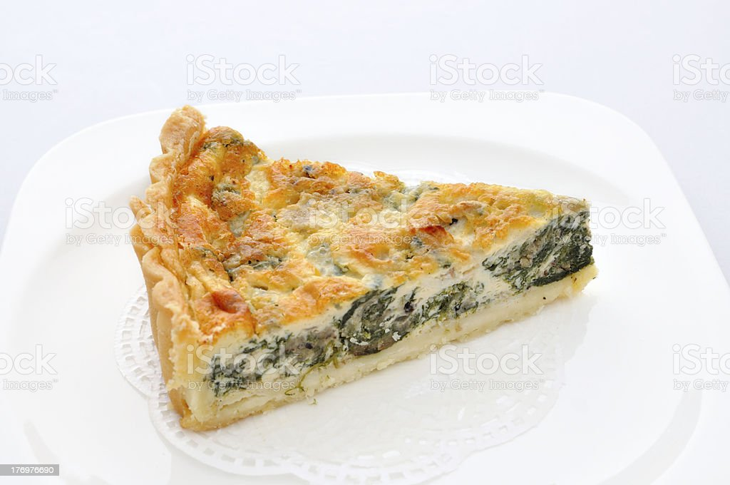 Piece of Spinach Tarts royalty-free stock photo