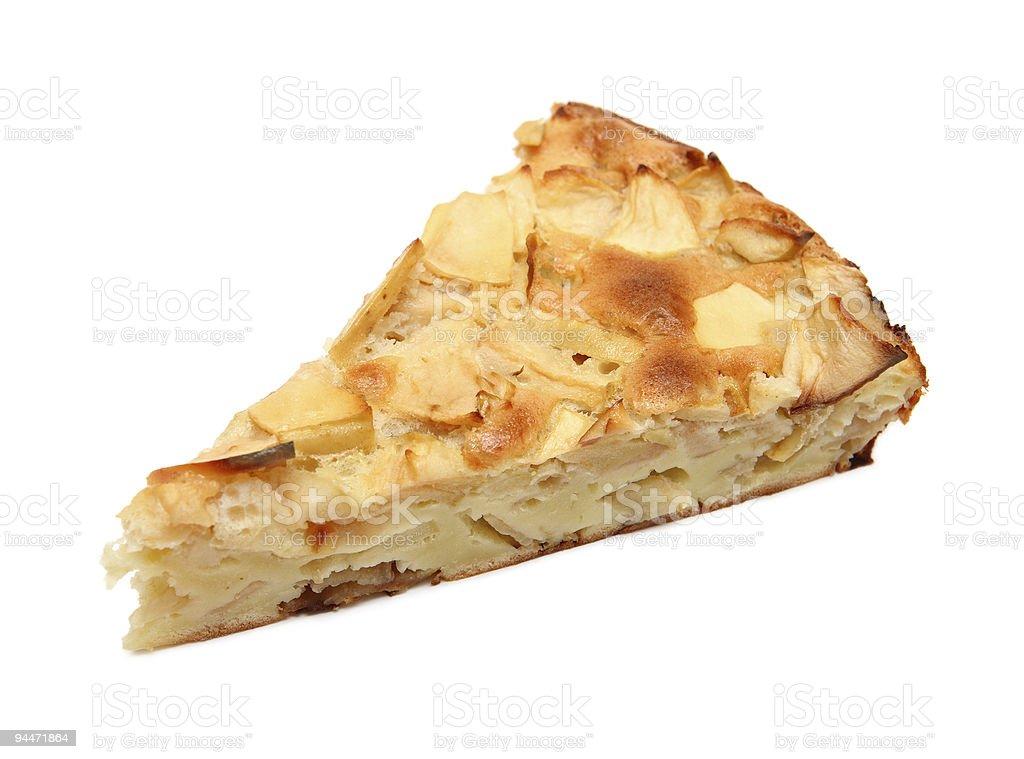 piece of sweet apple pie royalty-free stock photo
