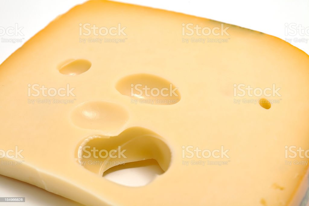piece of  swiss cheese royalty-free stock photo