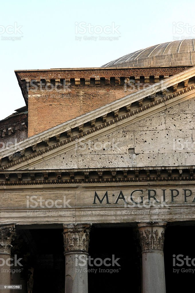 Piece of the Pantheon stock photo