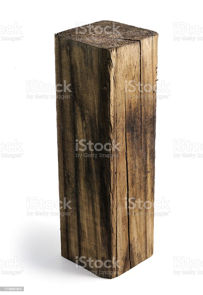 piece of timber 4x4 royalty-free stock photo