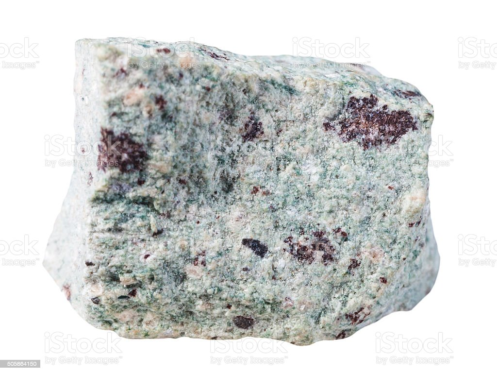 piece of Trachyte (Trachyt) mineral stone isolated stock photo