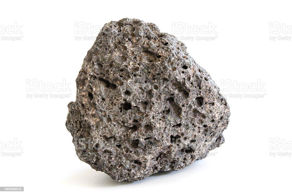 Piece of volcanic extrusive igneous rock stock photo