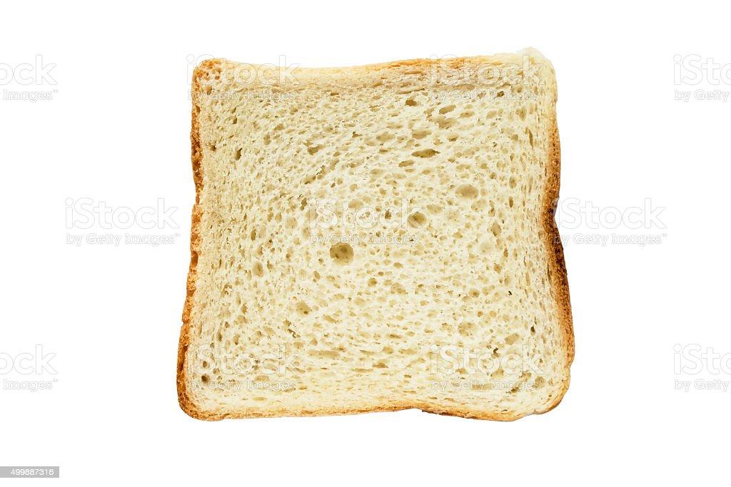 Piece of white bread stock photo
