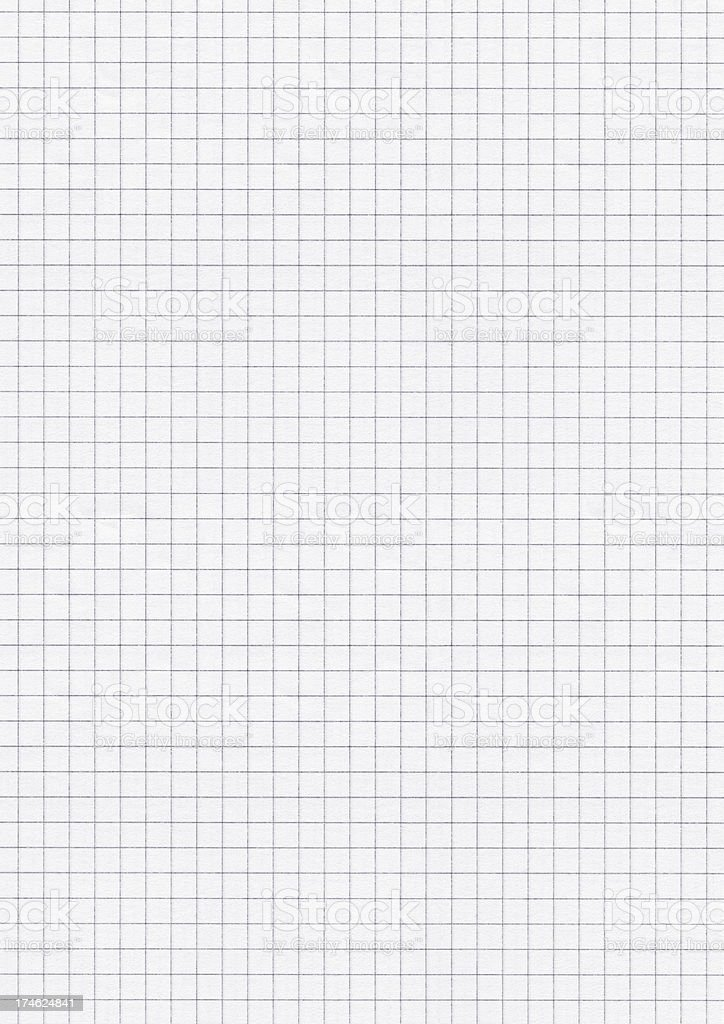 A piece of white graph paper that is blank royalty-free stock photo