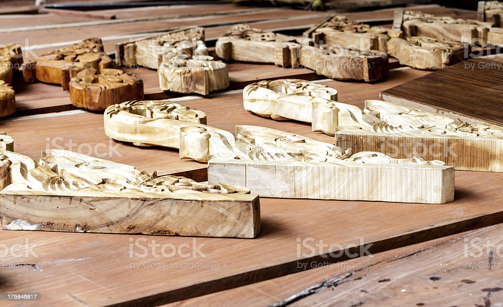Piece of wood carving royalty-free stock photo
