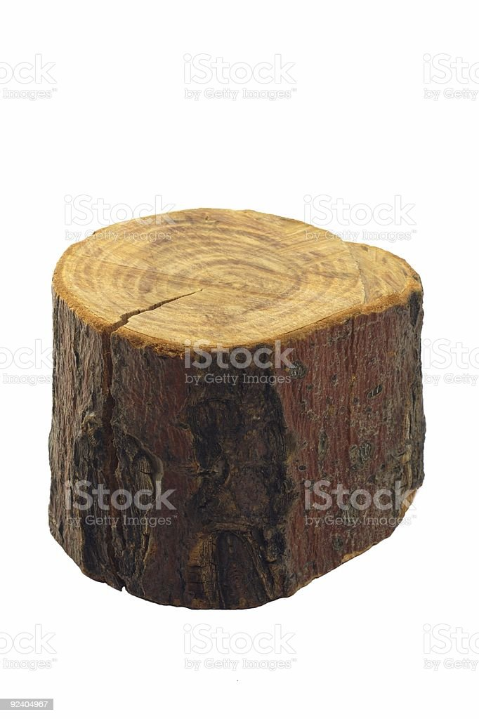 Piece of wood, isolated royalty-free stock photo