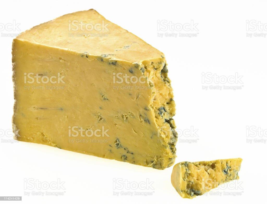 Piece of Yellow Stilton Cheese royalty-free stock photo