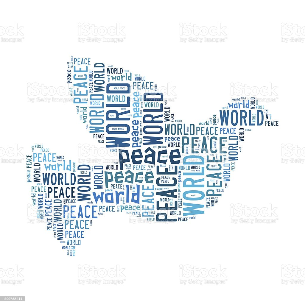 Piece pigeon world cloud royalty-free stock photo