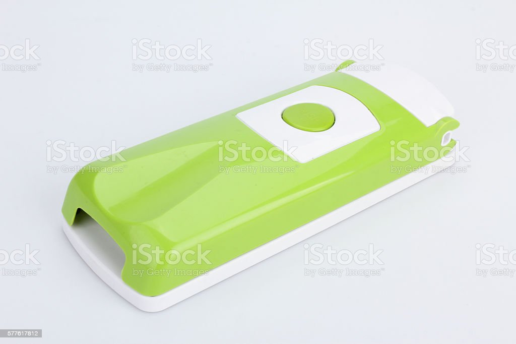 Pieces and set of stainless steel green color precision modern stock photo