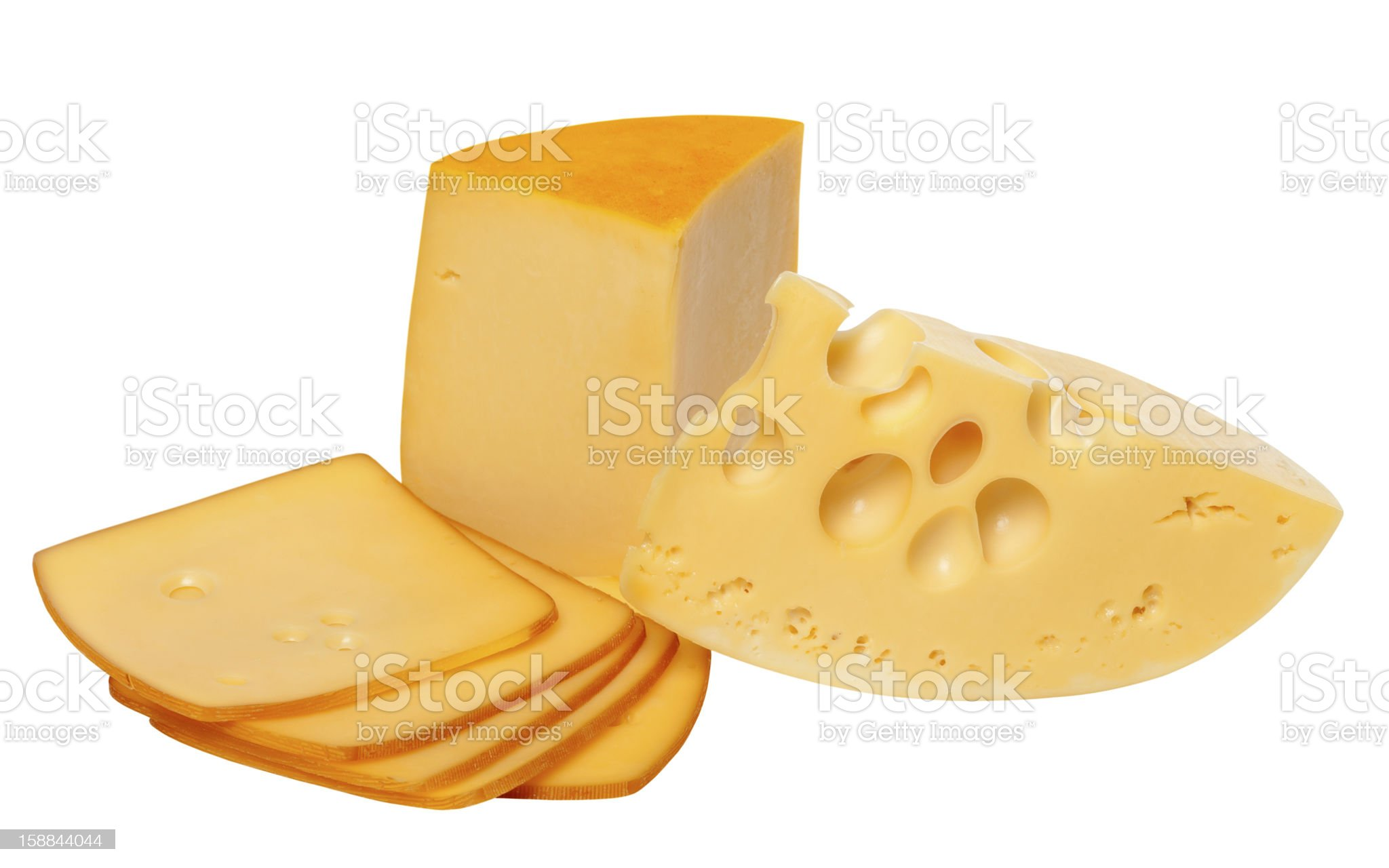 Pieces and slices of cheese royalty-free stock photo