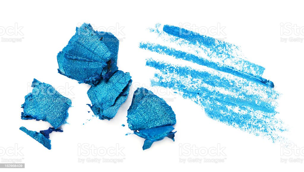 Pieces of blue cosmetic eyeliner  stock photo