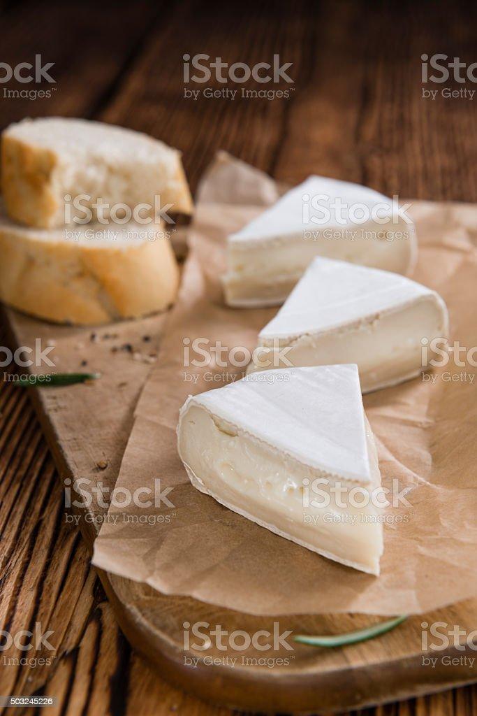 Pieces of Camembert stock photo
